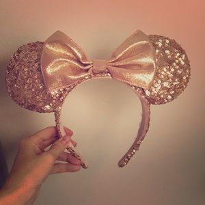 Authentic Rose Gold Minnie Mouse Ears